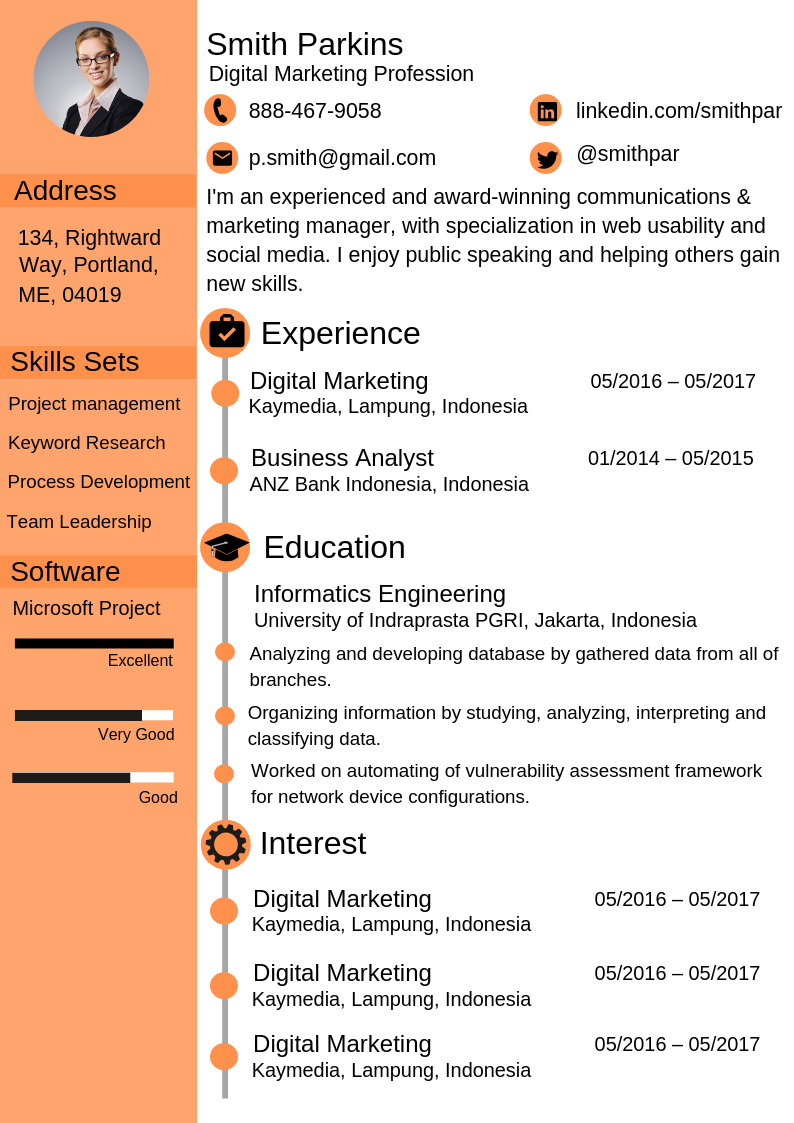 how to create a digital marketing resume that impresses